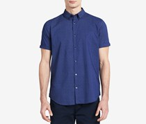 Calvin Klein Men's Classic-Fit Pinwheel Shirt, Navy