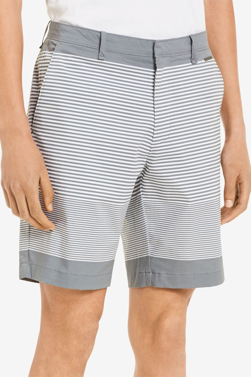 Mens Slim-Fit Flat-Front Short, High Rise