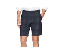 Calvin Klein Mens Plaid Dobby 9 Shorts, Navy Combo