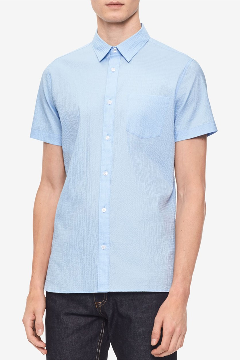 Men's Textured Shirt, Clear Sky