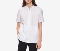 Calvin Klein Men's Zip-Front Shirt, White