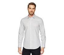 Calvin Klein Men's Seersucker Shirt, Standard White