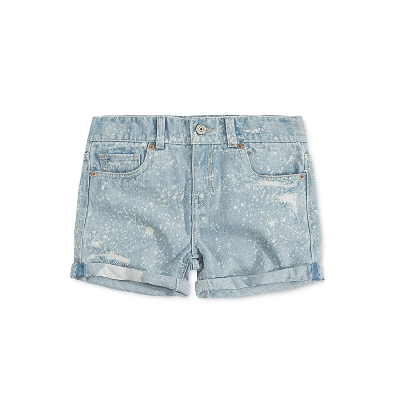 Levis Cotton Girlfriend Shorty Short, Light Wash