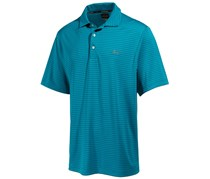 Greg Norman Men's Big & Tall Striped Performance Polo Tee, Blue