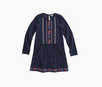 Lucky Brand Big Girl's Marlow Dress, Black Iris