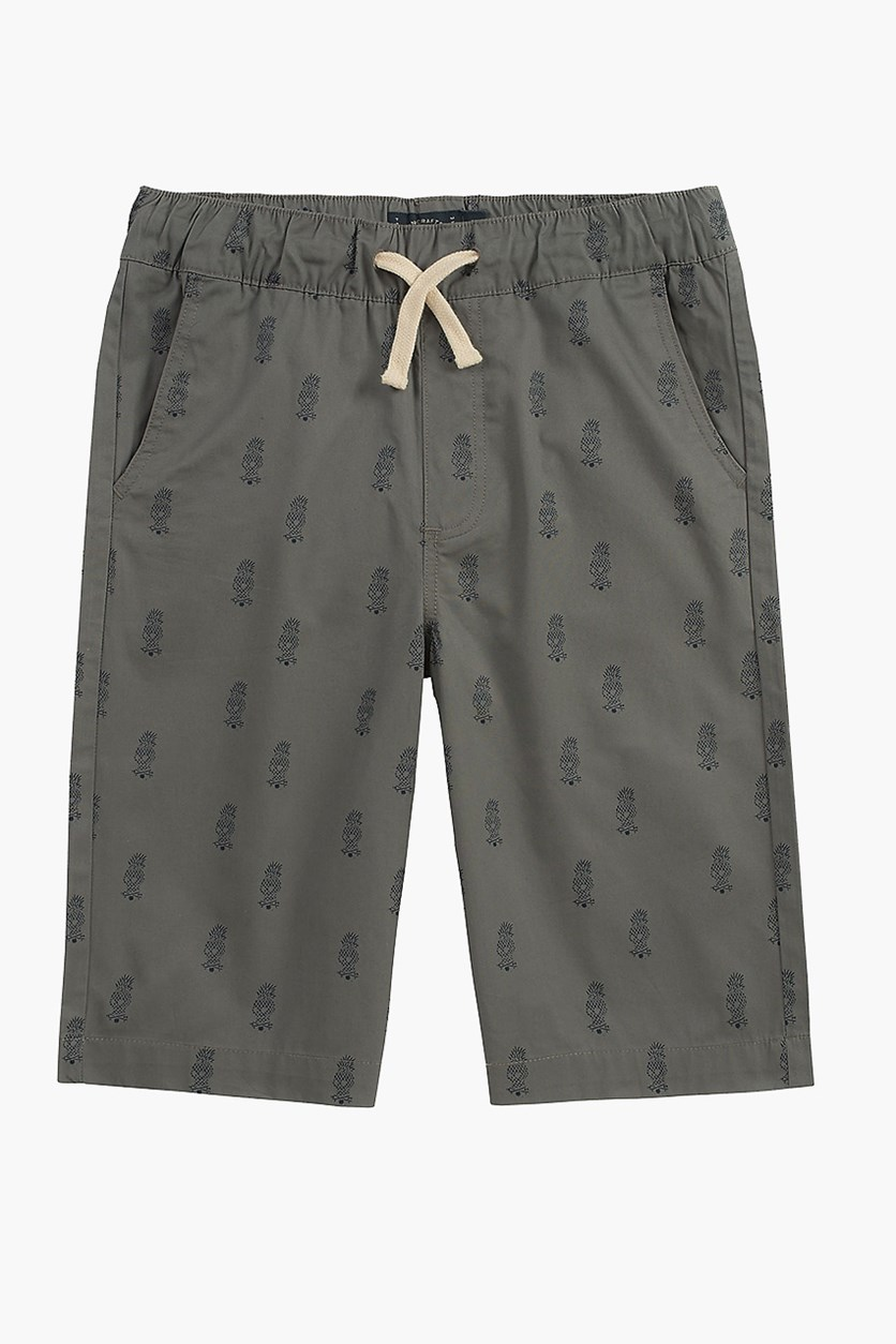 Toddler's Printed Shorts, Grey