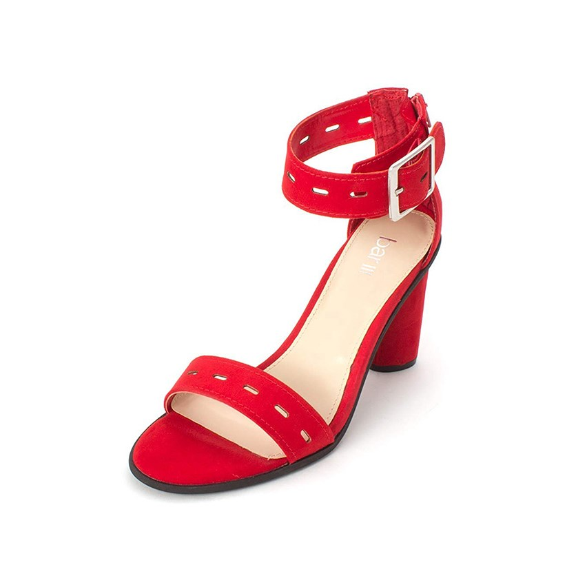 Women's Breeanne Open Toe Ankle Strap Sandals, Red