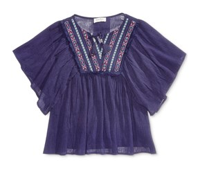 Jessica Simpson Girl's Boho Top, Navy