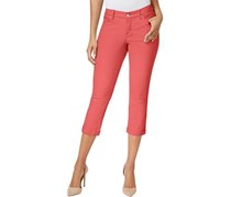 Vintage America Women's Colored Cropped Jeans, Boho Red
