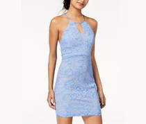 Sequin Hearts Juniors Lace Racerback Dress, Periwinkle