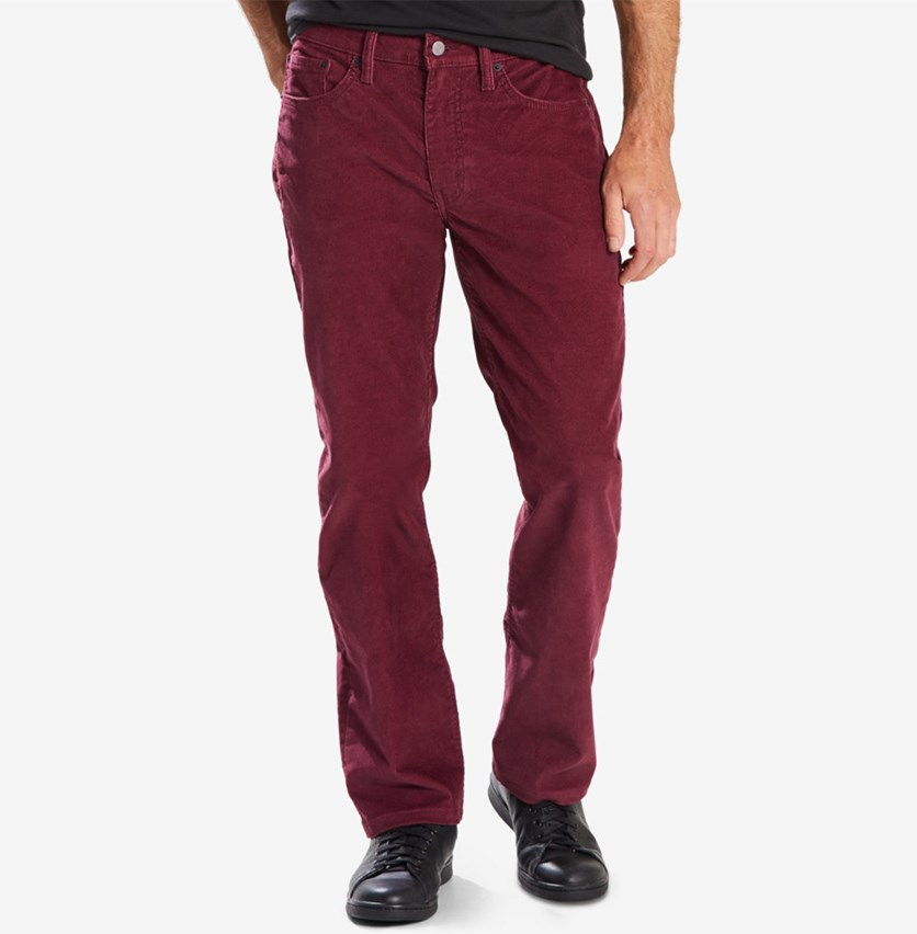 Mens 514 Straight Fit Bedford Corduroy, Merlot
