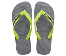 Havaianas Men's Brazil Logo Slipper, Grey/Green