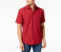 G.h. Bass & Co. Men's Sportman Fishing Shirt, Red