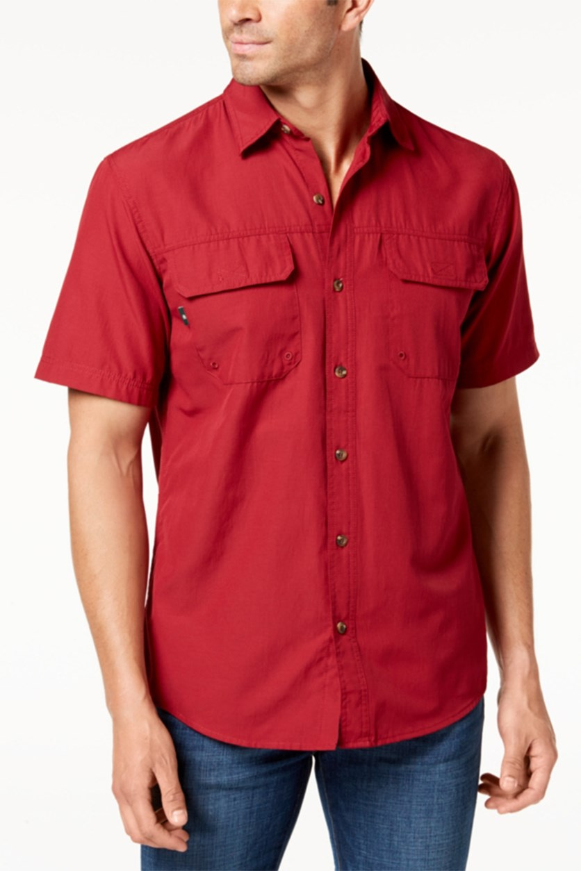 Men's Sportman Fishing Shirt, Red