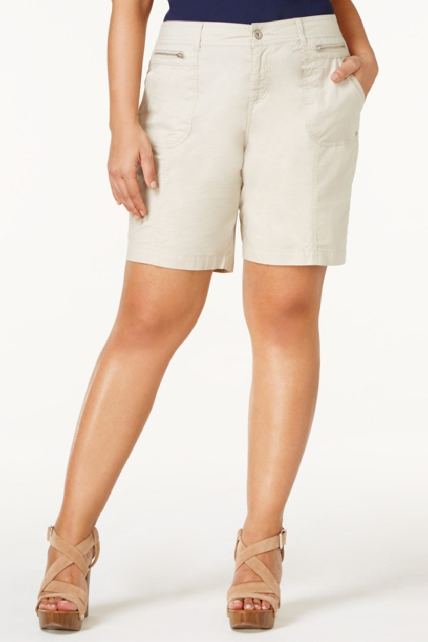 Plus Size Relaxed Shorts, Stonewall