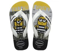Havaianas Men's Minions Slipper, Grey/Yellow