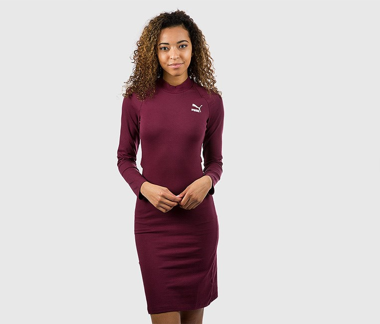 Women's Classic Dress, Fig/Plum
