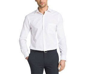 Kirkland Signature Men's Tailored Fit Dress Shirt, White