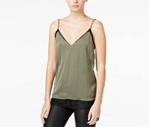 Bar Iii Women's Layered-look Lace Top, Olive