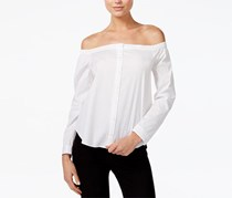 Bar III Women's Off-The-Shoulder Shirt, Bright White