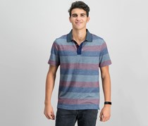 Tasso Elba Mens Classic-Fit Striped Polo, Dark Combo