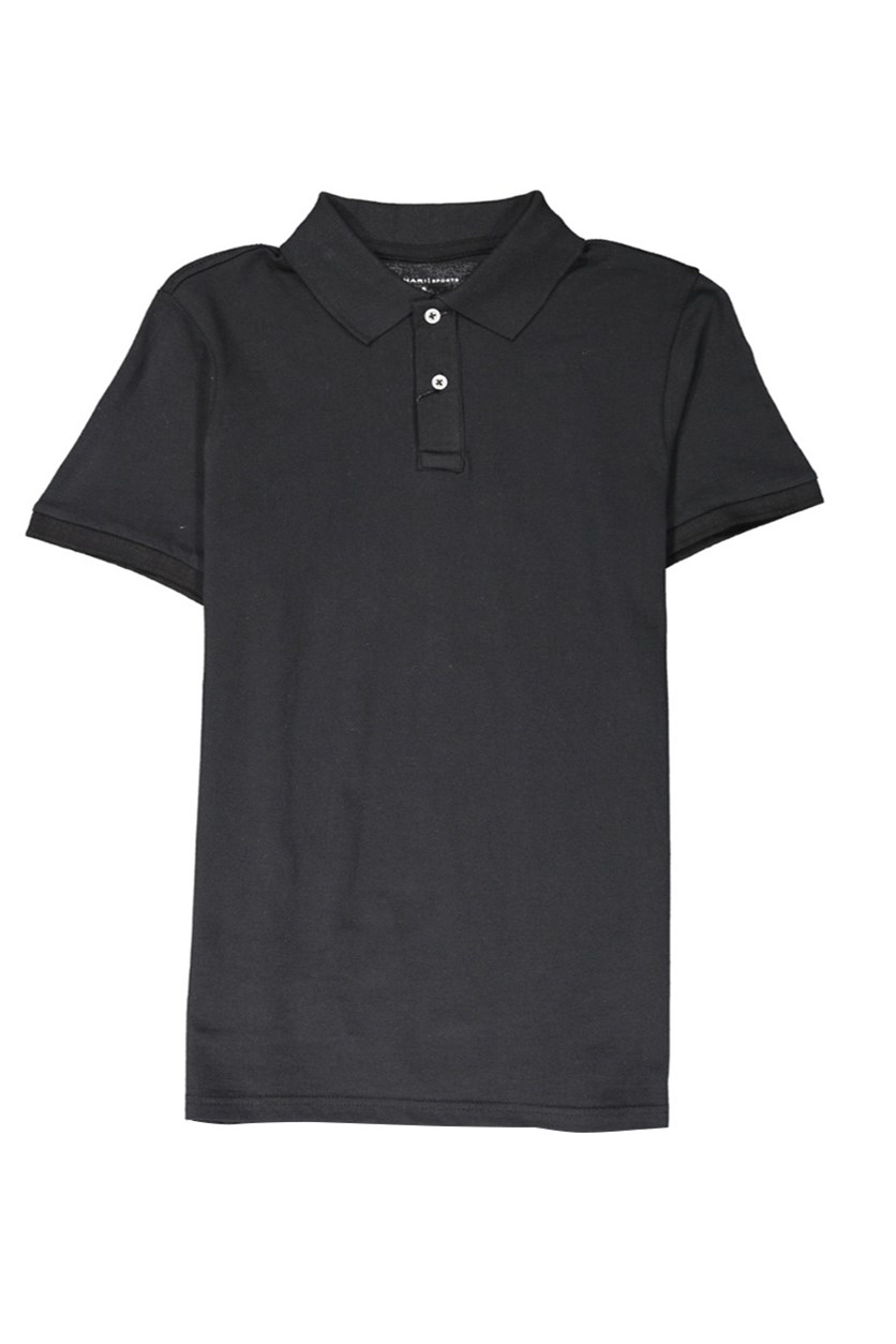 Men's Short Sleeve Polo Shirt, Black