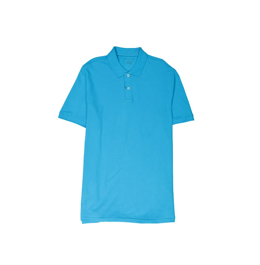 Tahari Men's Short Sleeve Polo Shirt, Blue
