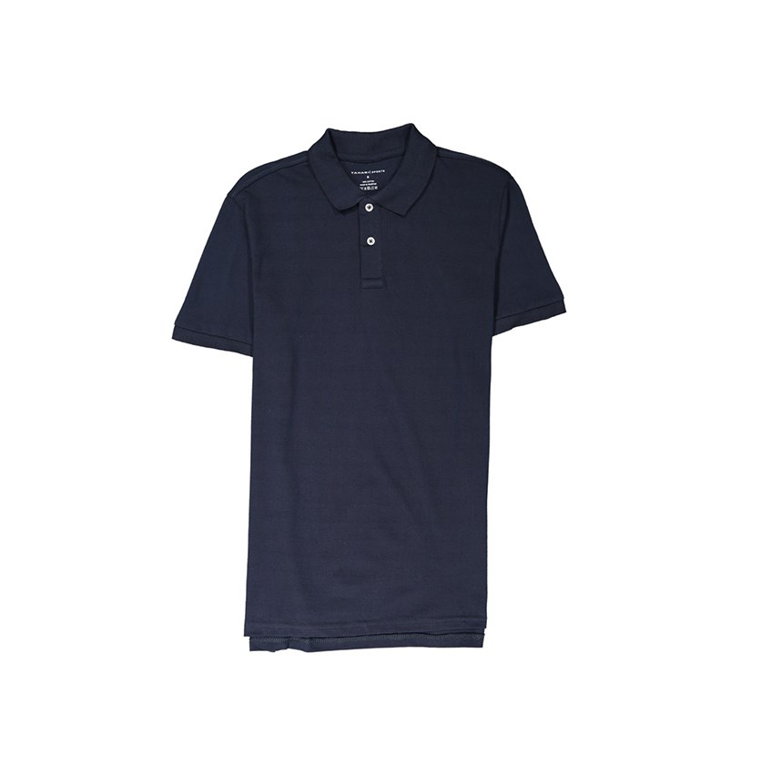 Tahari Men's Short Sleeve Polo Shirt, Navy