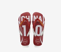 Havaianas Men's China Team Slipper, Red/White
