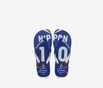 Havaianas Men's Nippon team Slippers, Blue/White