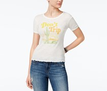 American Rag Cie Women's Don't Trip Graphic T-Shirt, Off White/Yellow/Green