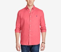 Polo Ralph Lauren Men's Big & Tall Shirt, Red
