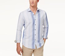 Tasso Elba Men's Vertical Striped Shirt, Blue Combo