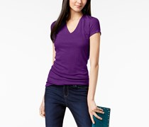 Inc International Concepts Ribbed V-Neck Top, Purple