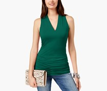 International Concepts Women's Ruched V-Neck Top, Green