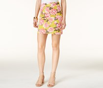 Inc International Concepts Printed A-Line Skirt, Yellow/Pink