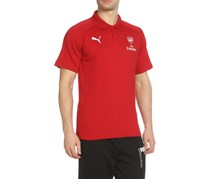 Puma AFC Casual Performance Polo with Sponsor Logo, Chili Pepper