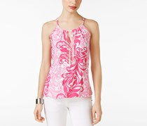 INC International Concepts Embellished Halter Top, Pink