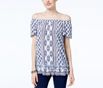 INC International Concepts Off-The-Shoulder Top, Dandy Blue