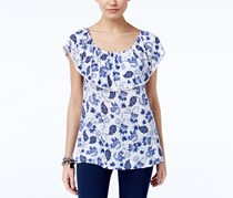 INC Women's Off-The-Shoulder Top, Surfside Vines