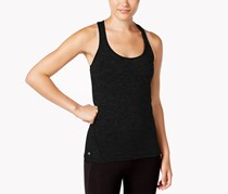 Ideology Heathered Racerback Tank Top, Black