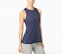 Ideology Heathered Keyhole-Back Tank Top, Navy Serenity