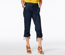 Inc International Concepts Curvy-Fit Cropped Cargo Pants, Navy