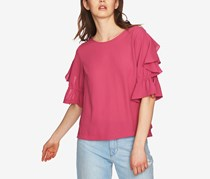 1.STATE Ruffled Tie-Sleeve Top, Magenta