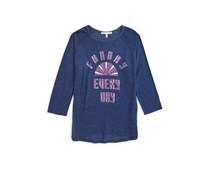 C & C California Girl's Graphic Tee, Navy