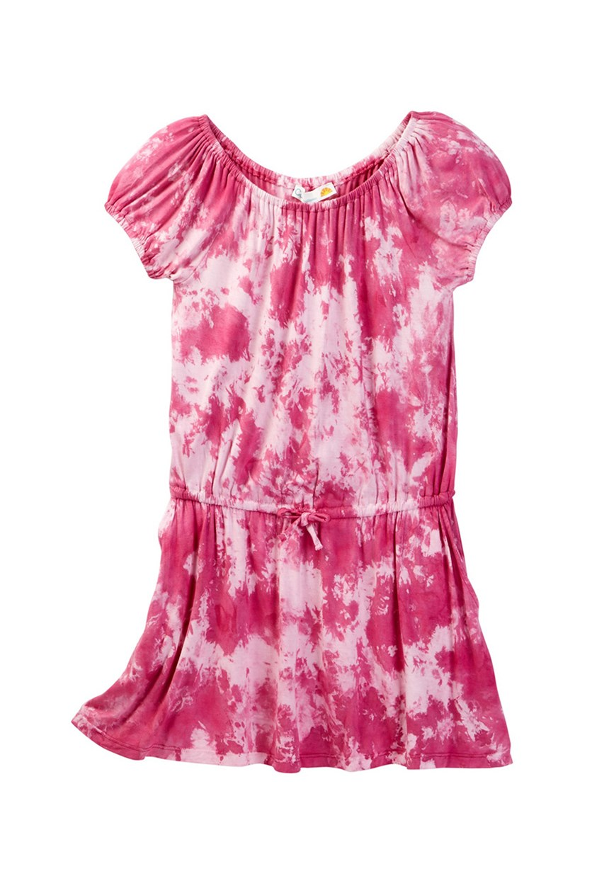 Big Girls Tie Dye Dress, Rasberry