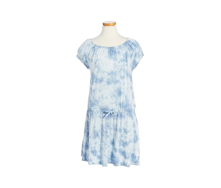C & C California Big Girl's Tie Dye Dress, Blue