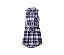 C&c California Girls Tie-front Shirtdress, Navy