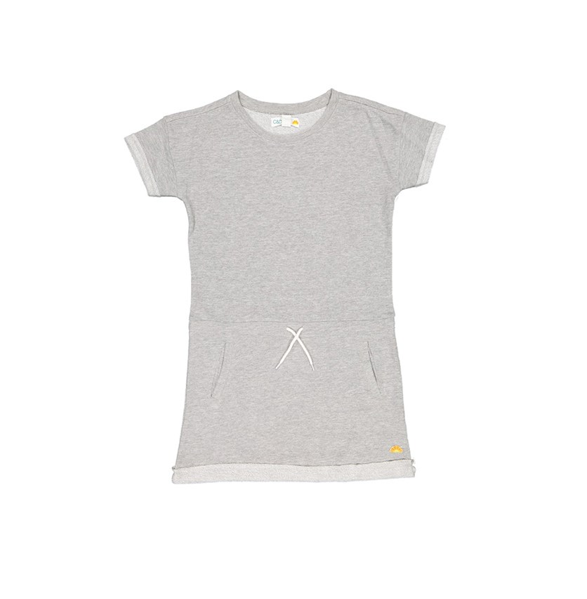 Kid's Girls Dress, Light Heather Grey