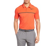 Nike Men's Mobility Remix Stretch Stripe Golf Polo, Orange